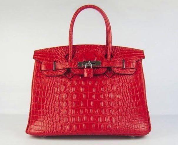 hermes-birkin-30cm-red-crocodile-head-bag