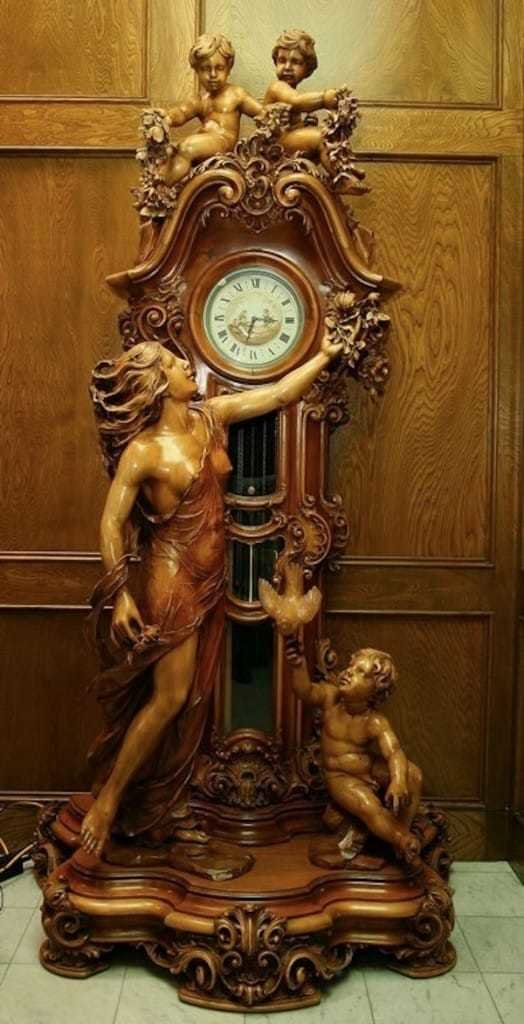 Eternal Timeless Love Grandfather Clock Luxury Branded