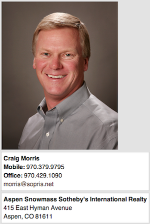 craig morris contact $50,000,000 Compound In Snowmass Village Colorado