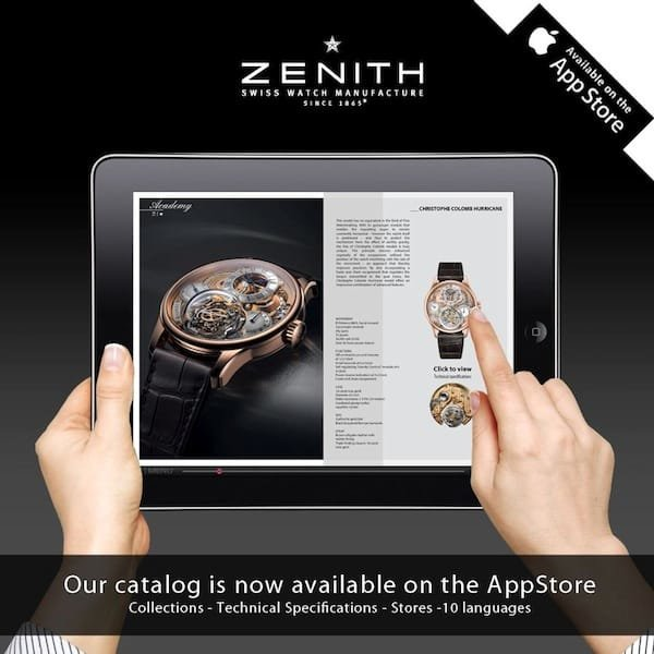 zenith watches ipad app