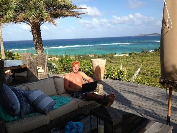 Entrepreneur Joe Player on Necker Island