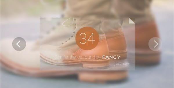 Fancy.com Google Glass shopping app