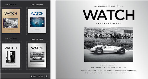 IWC Watch International ipad