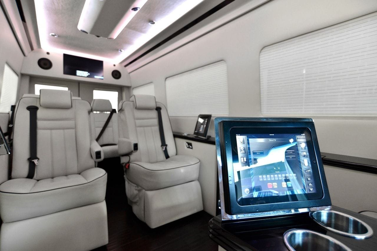 tricked out mercedes benz sprinter van by bespoke coachworks. Black Bedroom Furniture Sets. Home Design Ideas