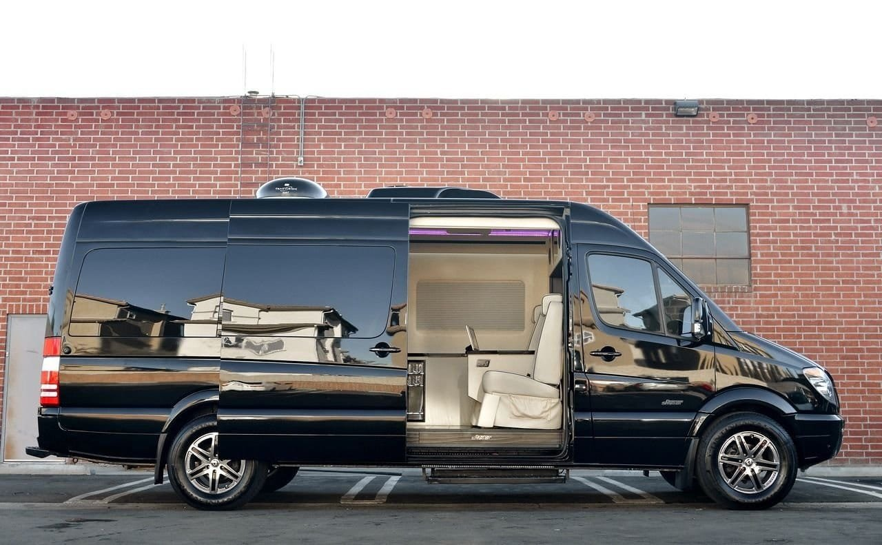 Tricked out mercedes benz sprinter van by bespoke coachworks for Mercedes benz sprinter truck