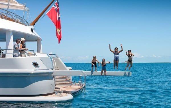 kids jumping of gangplank