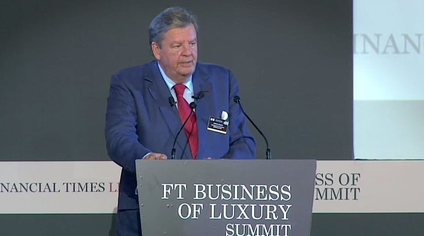 FT Business of Luxury Summit 2015 D1 Opening Keynote - Johann Rupert