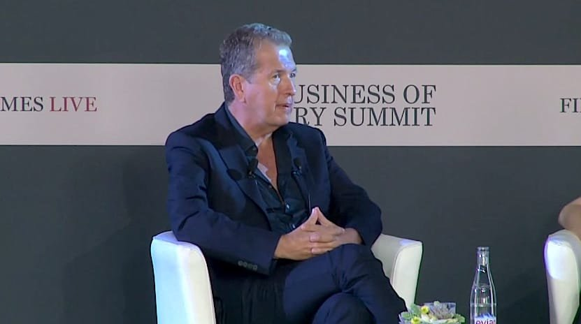 Mario Testino's Talk At The 2015 FT Business Of Luxury Summit