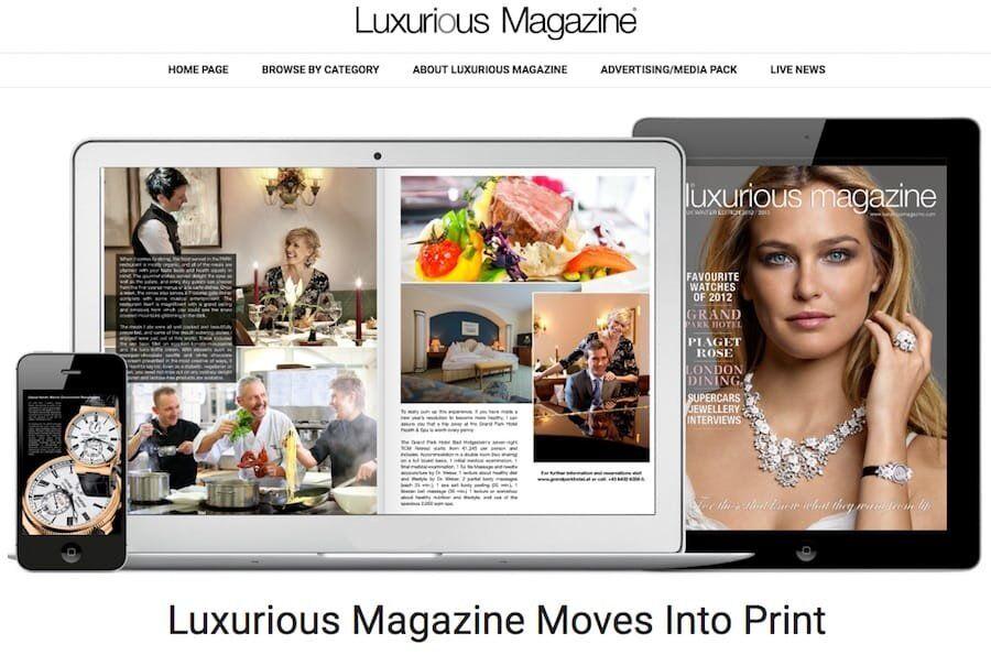 luxurious magazine print edition