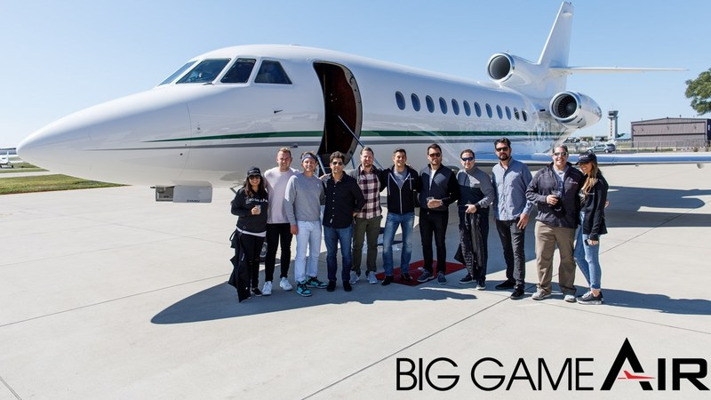Big Game Air, first-of-its-kind provider of luxury game day travel kicks-off professional sport event flights (PRNewsfoto/Big Game Air)